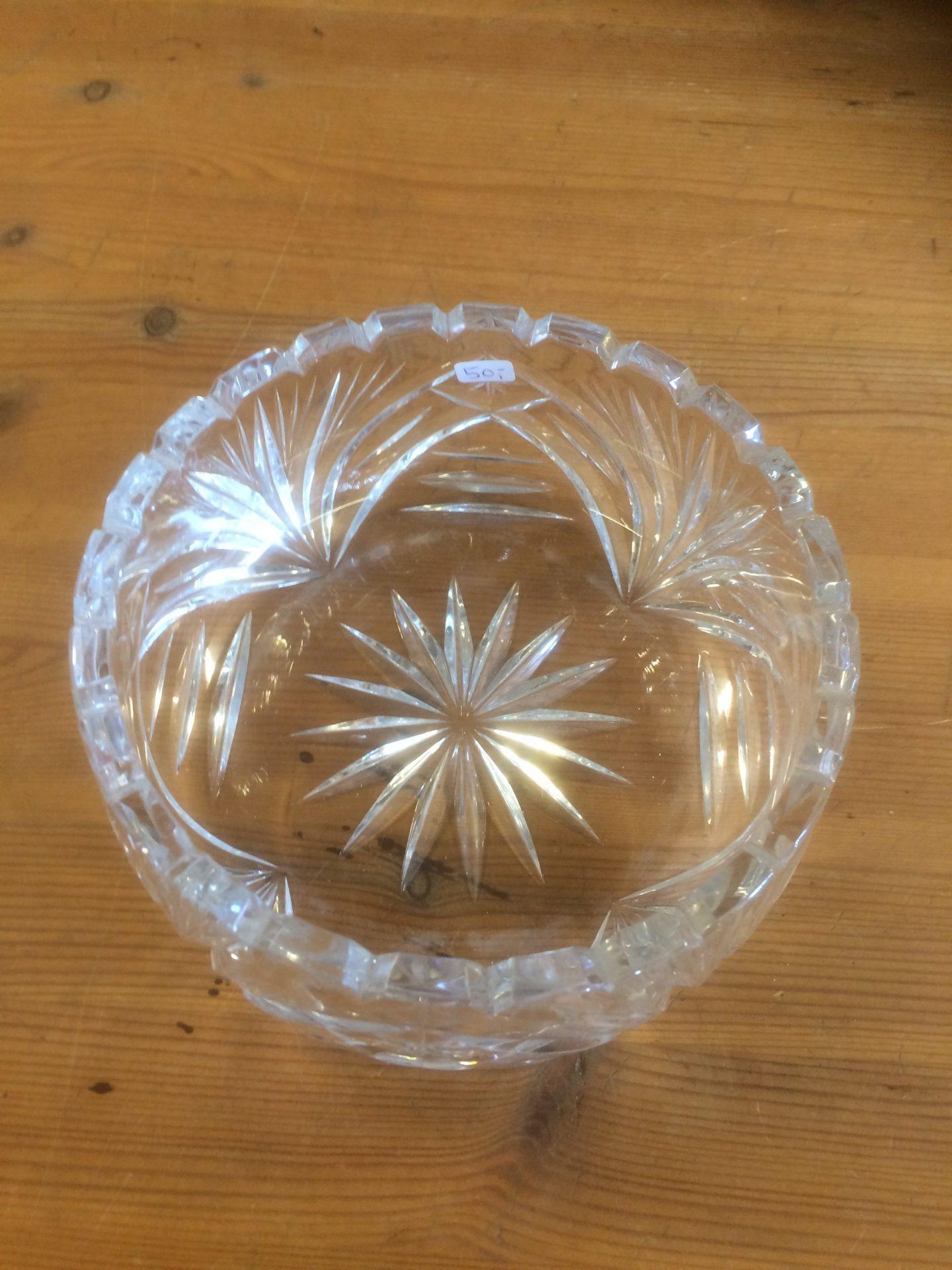 19/30 Krystal skål størrelse 200-80mm pris 50kr